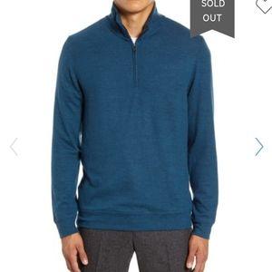Nordstrom Pullover Half Zip Men's Teal NWT